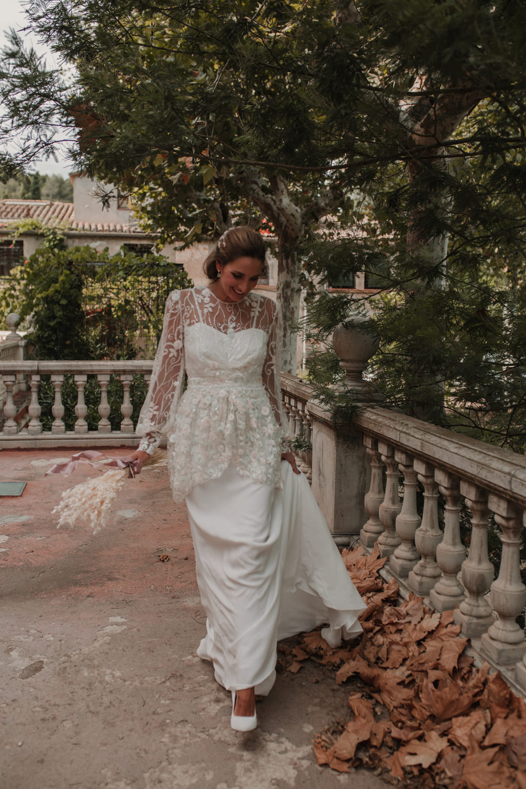 Tocado novia Shooting Miss Cavallier Barcelona- Laura Murcia
