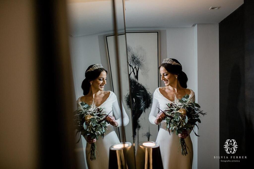 Laura Murcia- Tocado novia coleta Irene 4