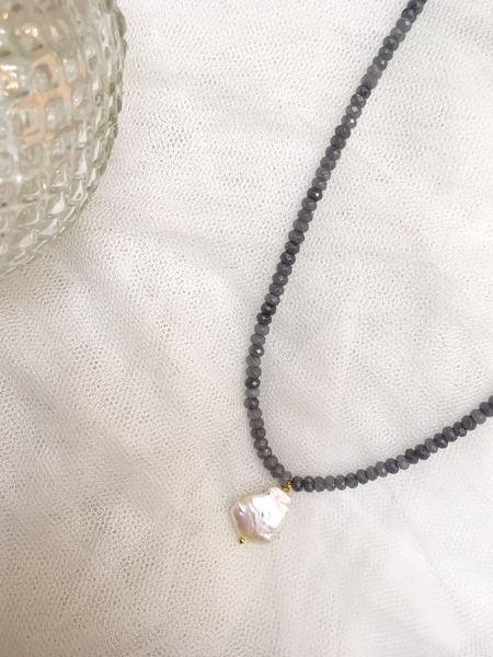 collar aurora para usar a diario, con aventurinas y perlas